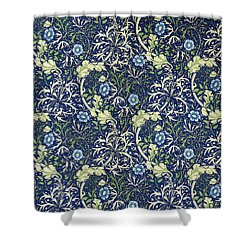 Blue Daisies Design Shower Curtain by William Morris