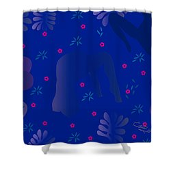 Blue Dance - Limited Edition  Of 30 Shower Curtain