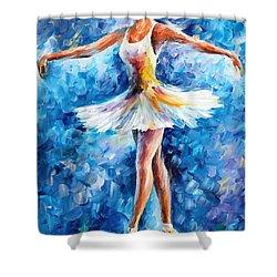 Blue Dance Shower Curtain by Leonid Afremov