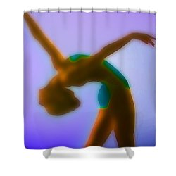 Blue Dance Shower Curtain by Tony Rubino