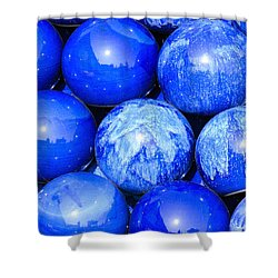 Blue Decorative Gems Shower Curtain by Tommytechno Sweden