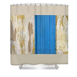 Shower Curtain featuring the photograph Blue Door by PJ Boylan