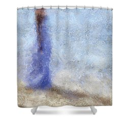 Blue Dream. Impressionism Shower Curtain