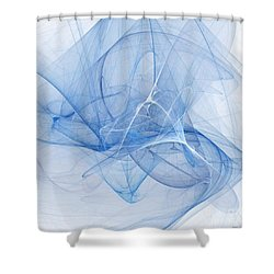 Blue Shower Curtain by Elizabeth McTaggart