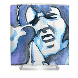Blue Elvis Shower Curtain