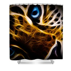 Blue Eye Shower Curtain by Aged Pixel