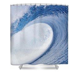 Blue Eye Shower Curtain by Sean Davey