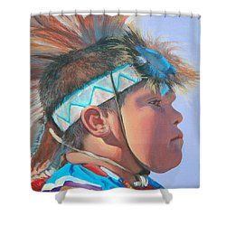 Blue Falcon Shower Curtain
