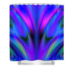Blue Flame Shower Curtain