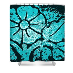Blue Flower Shower Curtain by Chris Berry
