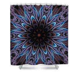 Shower Curtain featuring the digital art Blue Flower by Lilia D