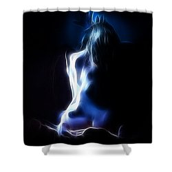 Blue Form 4022 Shower Curtain by Timothy Bischoff