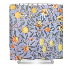 Blue Fruit Shower Curtain by William Morris