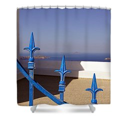 Blue Gate Shower Curtain