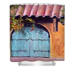 Blue Gate Shower Curtain