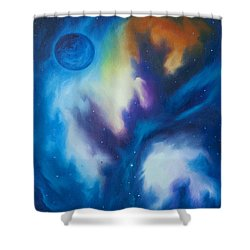 Blue Giant Shower Curtain by James Christopher Hill