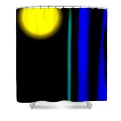 Blue Glass Shower Curtain by Bob Orsillo