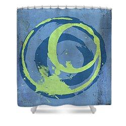 Blue Green 7 Shower Curtain