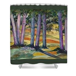 Blue Grove Shower Curtain