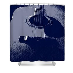Blue Guitar Shower Curtain