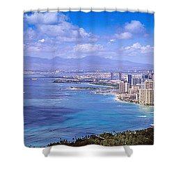 Blue Hawaii Shower Curtain by Les Palenik