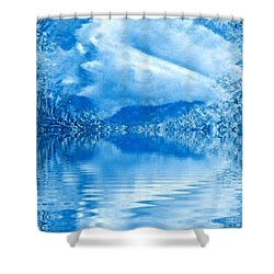Blue Healing Shower Curtain