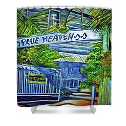 Blue Heaven Key West Shower Curtain