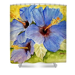 Blue Hibiscus Shower Curtain