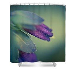 Blue Honeywort Shower Curtain by Priya Ghose