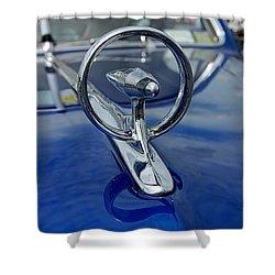 Blue Hood Shower Curtain