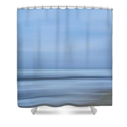 Blue Hour Beach Abstract Shower Curtain