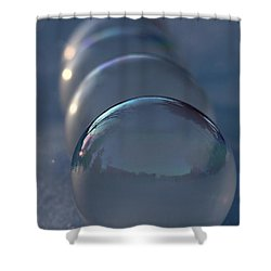 Blue Hour Frozen Bubbles Shower Curtain