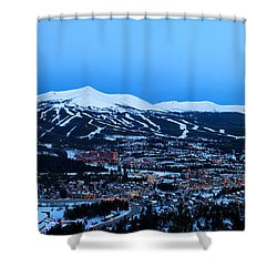 Blue Hour In Breckenridge Shower Curtain by Ronda Kimbrow