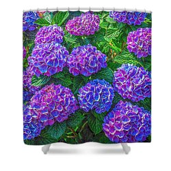 Shower Curtain featuring the photograph Blue Hydrangea by Hanny Heim