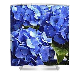 Blue Hydrangea Shower Curtain by Lehua Pekelo-Stearns