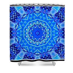 Shower Curtain featuring the photograph Blue Hydrangeas Flower Kaleidoscope by Rose Santuci-Sofranko