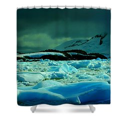 Shower Curtain featuring the photograph Blue Ice Flow by Amanda Stadther