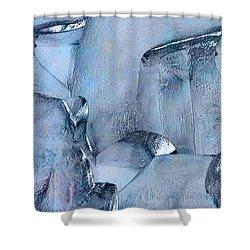 Blue Ice Shower Curtain by Jack Zulli