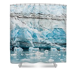Blue Ice Shower Curtain by Melinda Ledsome