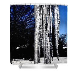 Shower Curtain featuring the photograph Blue Ice by Luther Fine Art