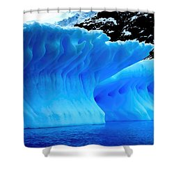 Blue Iceberg Shower Curtain by Amanda Stadther