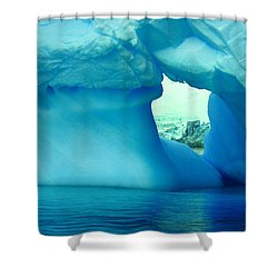 Blue Iceberg Antarctica Shower Curtain by Amanda Stadther