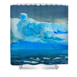 Shower Curtain featuring the photograph Blue Icebergs by Amanda Stadther