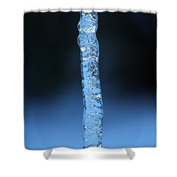 Blue Icicle Shower Curtain by James Eddy