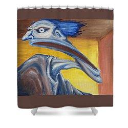 Blue - Internal Shower Curtain by Jeffrey Oleniacz