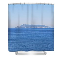 Shower Curtain featuring the photograph Blue Ionian Sea by George Katechis