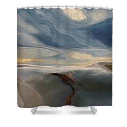 Blue Shower Curtain by Jack Zulli
