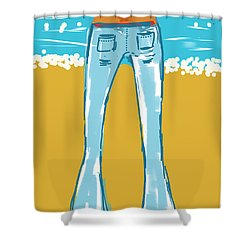 Blue Jean Summer Shower Curtain