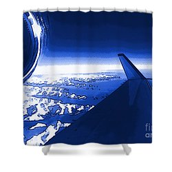 Blue Jet Pop Art Plane Shower Curtain