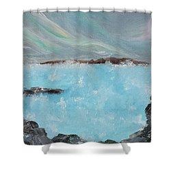Blue Lagoon Iceland Shower Curtain by Judith Rhue